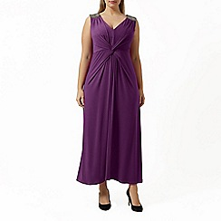 Windsmoor - Magenta jersey maxi dress