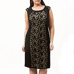 Windsmoor - Black jersey lace dress