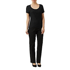 Precis Petite - Textured scoop neck top