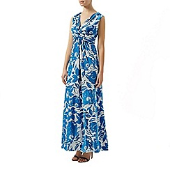 Planet - Blue and white floral maxi dress