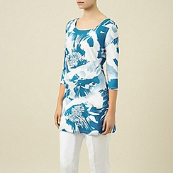 Planet - Azure/white floral tunic