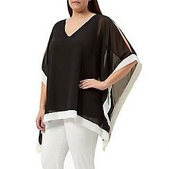 Windsmoor - Black chiffon tunic