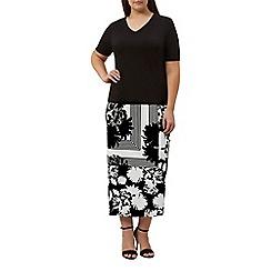 Windsmoor - Mono print jersey skirt