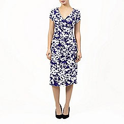 Precis Petite - Blue and ivory cannes dress