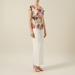 Kaliko - Floral bouquet printed cowl top