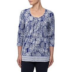 Dash - 3/4 sleeves  Mix Dahlia Print Tunic