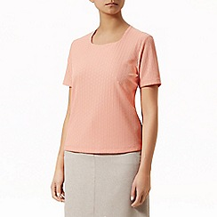 Eastex - Square neck pique top