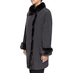 Jacques Vert - Fur Placket & Collar Jacket