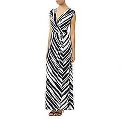 Planet - Chevron stripe maxi dress