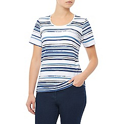 Dash - S/S Washed Stripe Scoop Neck