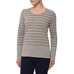 Dash - 3/4 Sleeve Simple Stripe Scoop Neck