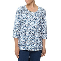 Dash - 3/4  butterfly printed blouse