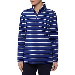 Dash - L/S Zip Neck Stripe Funnel