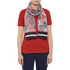 Dash - Dahlia scarf with border