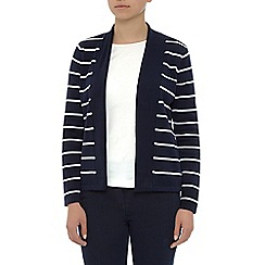Dash - Navy And White Stripe Cardigan