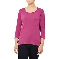 Dash - 3/4 sleeves c/ess fuchsia scoop neck