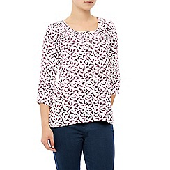Dash - 3/4 Sleeve Bird Print Blouse