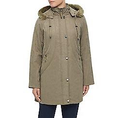 Eastex - Long Hooded Raincoat Stone