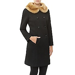 Kaliko - Vintage Faux Fur Collar Coat