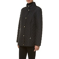 Windsmoor - Black Dogtooth Short Raincoat