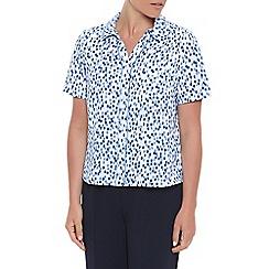 Eastex - Ikat spot print blouse