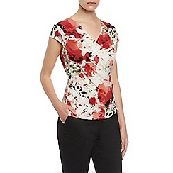 Kaliko - Floral printed wrap top