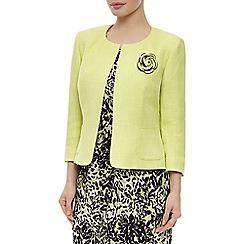 Precis Petite - Collarless corsage jacket