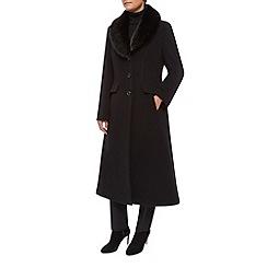 Precis Petite - Fur Collar Wool Coat
