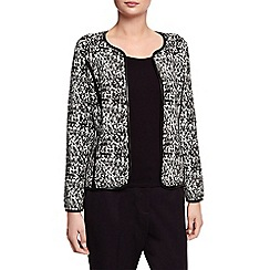 Planet - Leatherette Trim Cardi