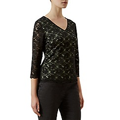 Kaliko - Contrast lining lace top