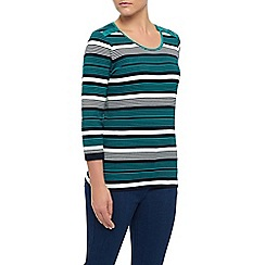 Dash - Stripe Square Neck Top