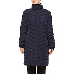 Precis Petite - Long Fur Quilted Coat