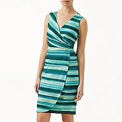 Kaliko - Stripe wrap jersey dress