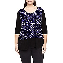 Windsmoor - Purple print asymmetric top