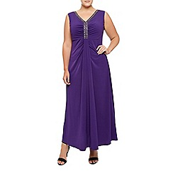 Windsmoor - Purple Embellished Maxi Dress