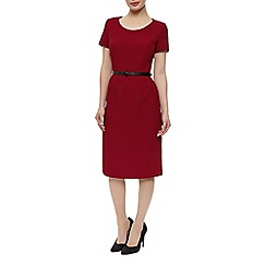 Precis Petite - Ponte Dress With Belt