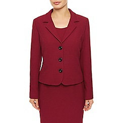 Precis Petite - Red Textured Ponte Jacket