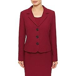 Precis Petite - Red Textured Ponte Jacket