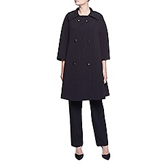 Kaliko - Embellished Collar Coat
