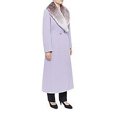Jacques Vert - Long Fur Collar Double Coat