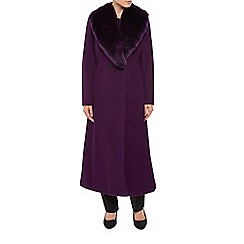 Jacques Vert - Long Fur Collar Double Coat