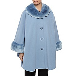 Jacques Vert - Unlined Fur Trimmed Cape