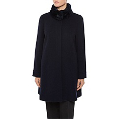 Jacques Vert - Mid Carved Fur Collar Coat
