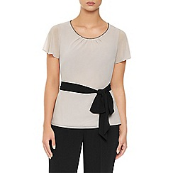 Jacques Vert - Textured Belted Blouse