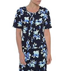 Eastex - Ikat floral print blouse