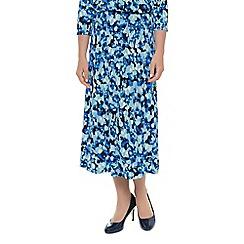 Eastex - Ikat spot print skirt