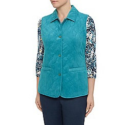 Eastex - Abstract leaf quilt gilet