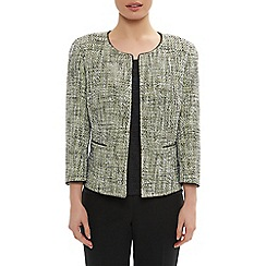 Precis Petite - Tweed collarless jacket