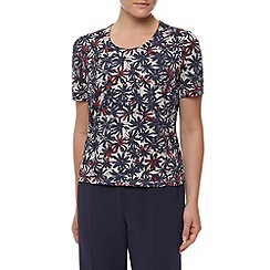 Eastex - Graphic marguerite print top