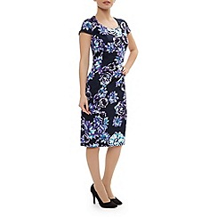 Precis Petite - Floral cotton sateen dress